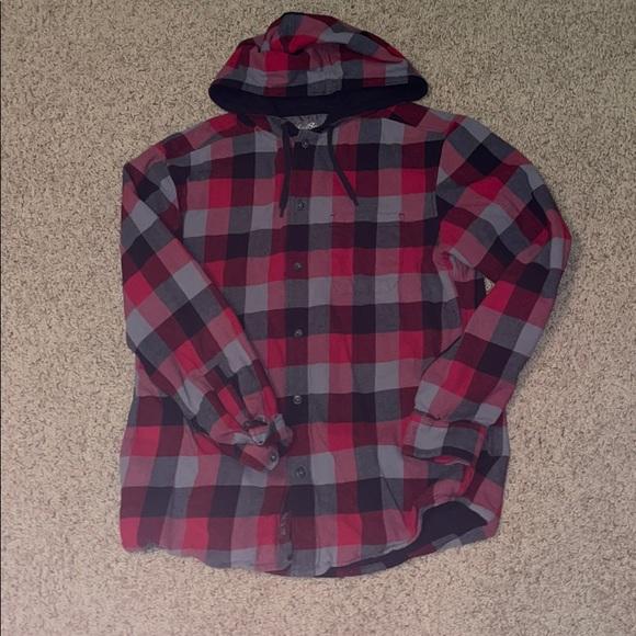 Men's Medium EddieBauer Button-down Hoodie/flannel